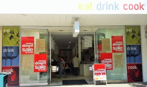 Eat, Drink, Cook Fremantle is having a closing down sale.