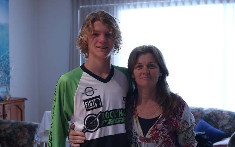 Kris with his mum Robin