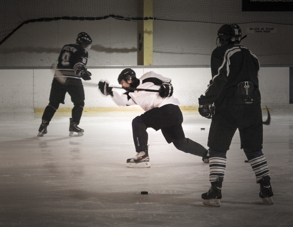 Ice Hockey - a fast paced contact sport