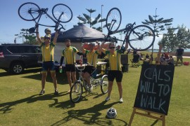 Siblings ride to Geraldton for disabled mate