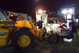 Debut of destruction for rookie Sprintcar driver