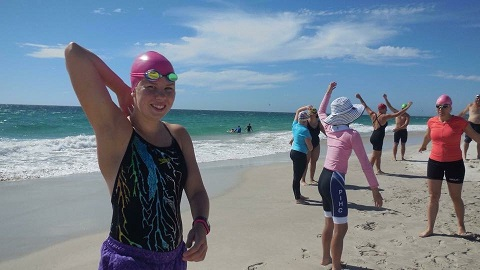 Caitlyn James will be a participant in the Rottnest Channel Swim for 2016.