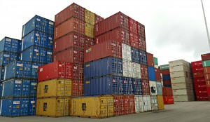 Stacks of shipping containers are an icon at Fremantle's port