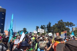 Protest at Parliament House to stop destruction of Wetlands