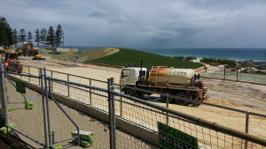 Current works as part of the Scarborough Beach Redevelopment plan.