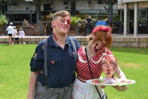 Ally Galvin 20, and her partner have been going to the Perth Zombie Walk for three years
