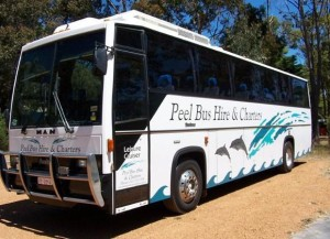 Pictured: A bus from the Peel Bus Hire & Charters fleet, part of the Shire of Murray trial.