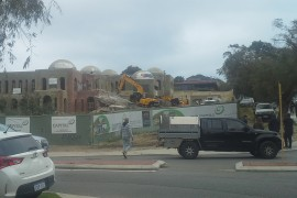 Demolition Finally Commences on Condemned Taj on Swan