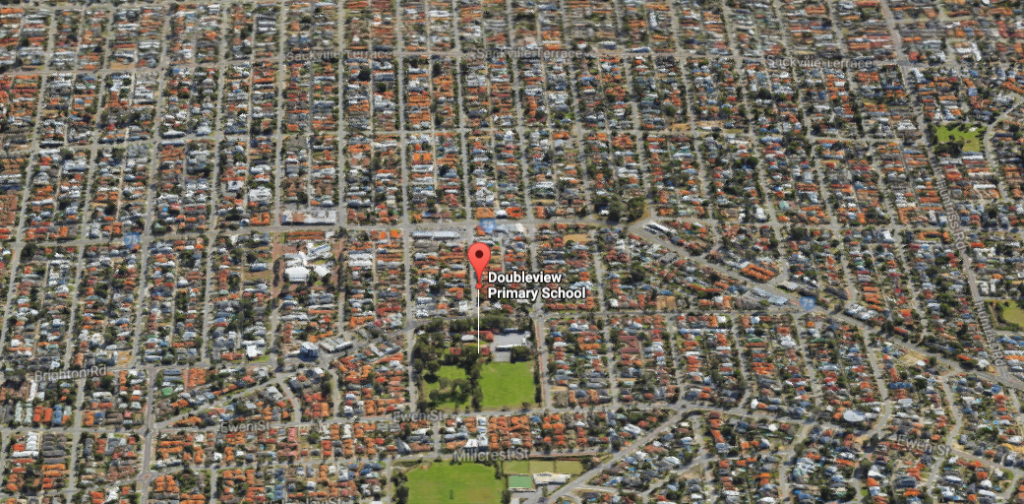 This Google Earth capture illustrates the lack of green, public space available in Doubleview.  Photo: Google
