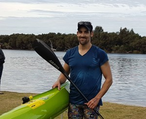 Champion: Josh Kippen, pictured at the 2017 Paddle Challenge, has four national titles for kayaking marathons.