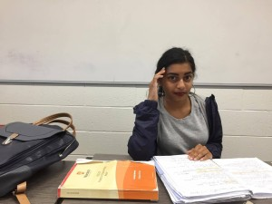 Distressed student: Priyanka Sivabalan studying for her exam, at Murdoch University. Picture: Amy Andacich
