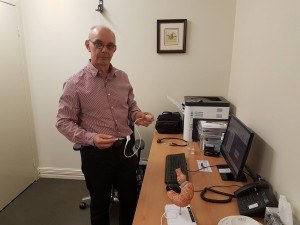 Fat fighter: Dr Anton Kruger, pictured at Bariatric Medicine Integrated in Joondalup.