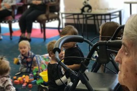 Children breathe new life into aged care home
