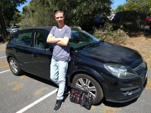 Mitchell Sinclair with his 2004 Holden Astra.