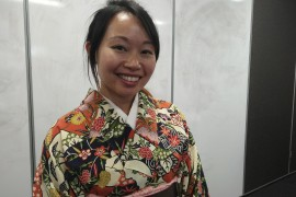Kimonos shine in corridors of campus