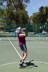 Syvlia Bennetts refuses to let blindness get in the way of her lifelong love of tennis.