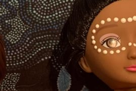 Indigenous artist creates dolls to connect kids to country