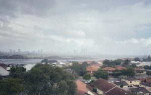 Stormy weather over Perth City